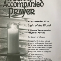 Online – Week of Accompanied Prayer 6-12 December 2020